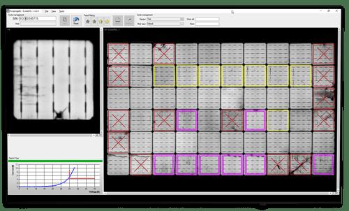 Electroluminescence test Output AOI width=