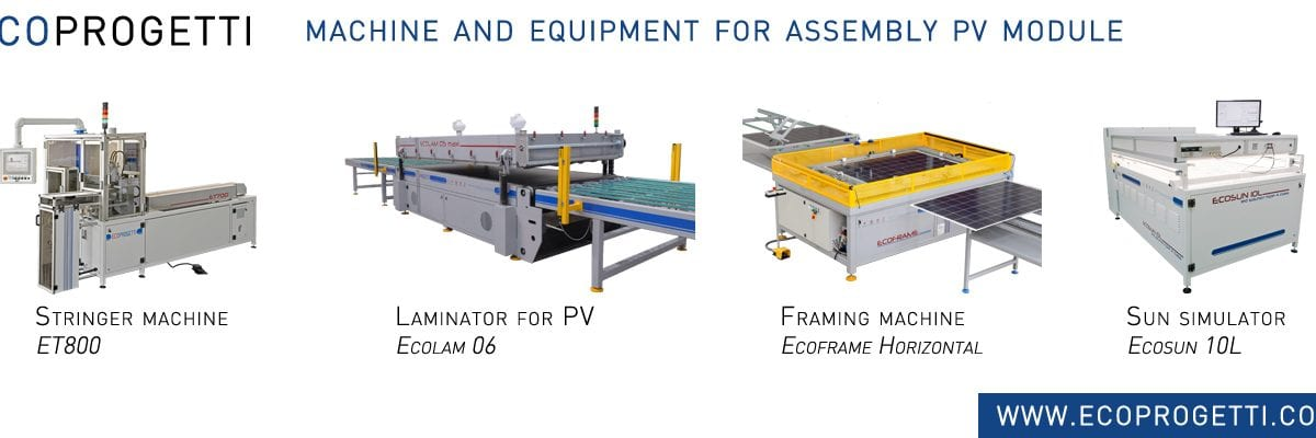 Solar Panels Manufacturing Machines Our Proposal