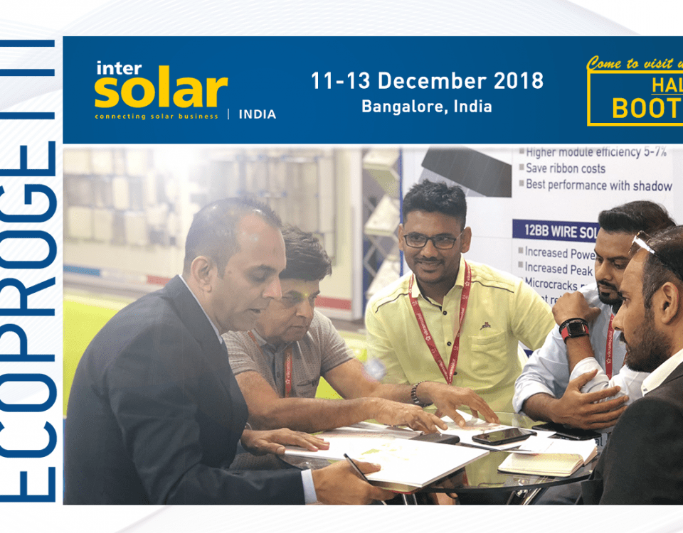 Ecoprogetti will attend Intersolar-India-2018
