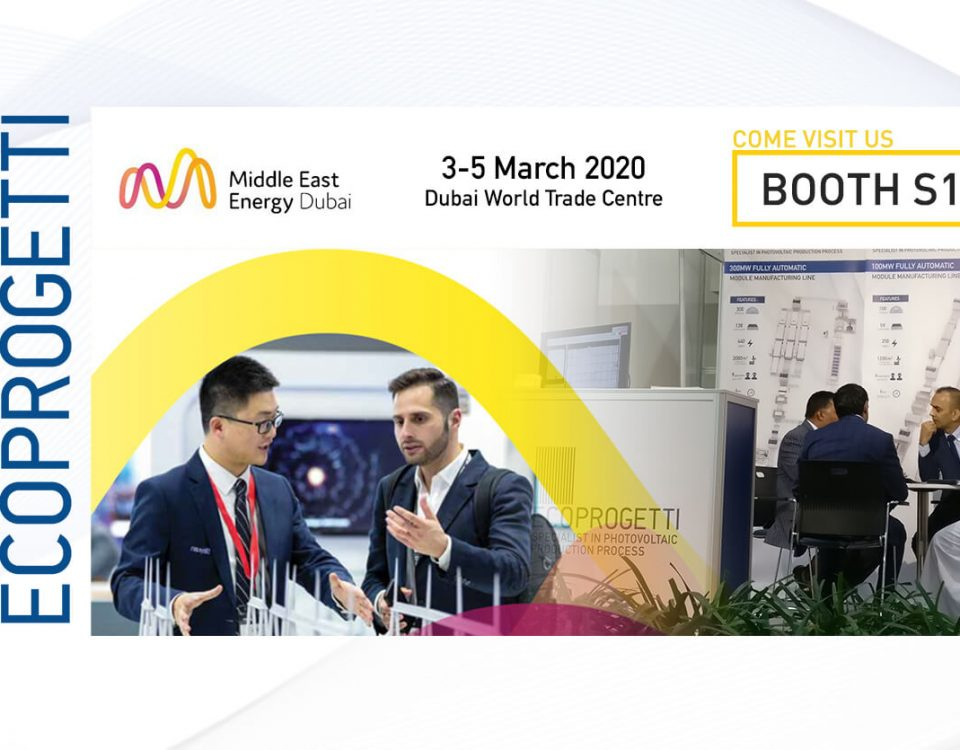Ecoprogetti will exhibit at Middle East Energy in 2020