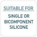 Single or bicomponent silicone
