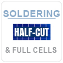 Soldering half cut and full cells